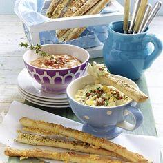 Feurige Landrahm-Salsa zu Brotstreifen Rezept   LECKER