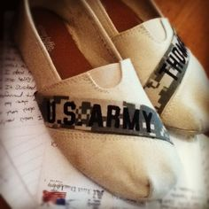 #army #toms #DIY so doing this when I see Brandon next