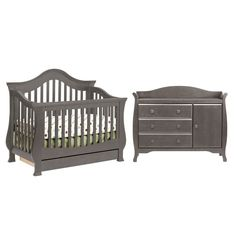 754dddc3c8f Convertible Crib · Baby Cribs · Babies Rooms · Million Dollar Baby 2 Piece Nursery  Set - Ashbury 4-in-1 Sleigh Convertible