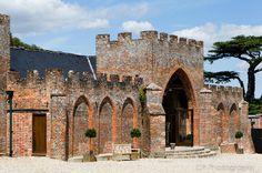 Castellated Entrance To Wasing Park Wedding Venue In Aldermaston Berkshire