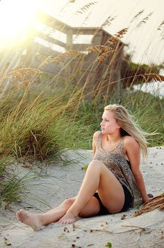 Mallory Senior Portrait at Beach / Senior Portrait / Senior Picture Ideas / 2014