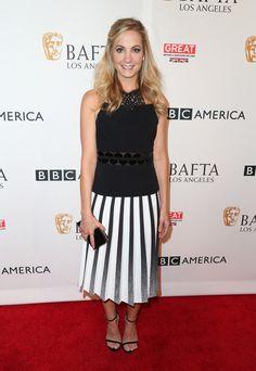 BBC America Bafta Los Angeles Tv Tea Party. Joanne Froggatt in Roland Mouret