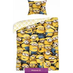 Minions kids bedding set with funny yellow creature from Despicable Me | Pościel Minionki 02 #minions #despicable_me #kids_bedding #kids_room_idea