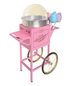 Loving this Nostalgia Electrics Vintage Collection Pink Cotton Candy Cart on #zulily! #zulilyfinds