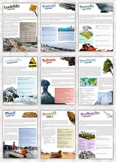 Natural Disasters. Lots of puzzles and activities. Worksheet