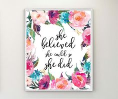 She Believed She Could So She Did Gift For Women by MintCherries