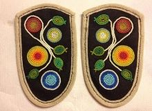 by Anne Anderson French Curtains, Beaded Moccasins, Beadwork Designs, Beading Patterns, Beading Ideas, Leather Pattern, Mittens, Tatting, Art Projects