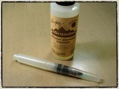 """day 6"" -tim holtz(c) 2008supplies: craft sheet, adirondack alcohol inks/cranberry, red pepper, ginger, lettuce, meadow, stream, wild plum, adirondack blending solution, adirondack paint ..."