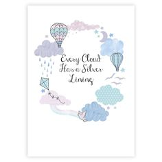 Every Cloud Inspirational Print - JillyJilly - The Treasured - 2