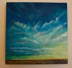 Sky and Clouds Landscape Oil Painting by OffRiverRoad on Etsy