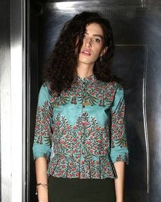 Box Pleated Green Top I Shop at : http://www.thesecretlabel.com/designer/desi-doree
