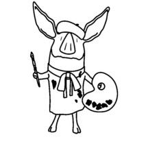 The little pig Olivia lives many adventures coloring page