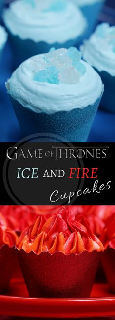 of Thrones Ice and Fire Cupcakes Game of Thrones Ice & Fire CucpakesGame of Thrones Ice & Fire Cucpakes Game Of Thrones Food, Game Of Thrones Theme, Cupcake Party, Cupcake Cakes, Fire Cupcakes, Game Of Thrones Birthday, Got Party, Party Party, Cinnamon Recipes