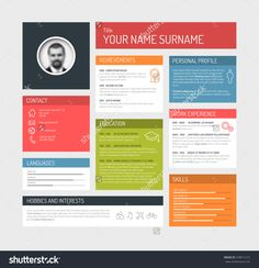The 17 best Resume Templates images on Pinterest | Resume templates ...