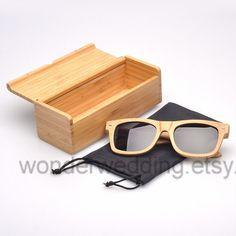 Natural Handmade Bamboo Sunglasses  Wood by WonderWedding on Etsy, $47.95