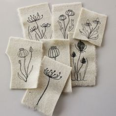 Embroidered scraps  -- lovely stitching but what to do with them when you are finished?