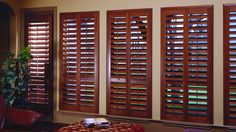 Plantation shutters for the sun room :)