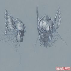 Thor God of Thunder sketch by Esad Ribic     http://marvel.com/news/story/19861/thor_god_of_thunder_sketchbook_pt_2