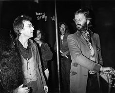Two modestly famous guys stepping out at the Rainbow Bar and Grill on the Sunset Strip.