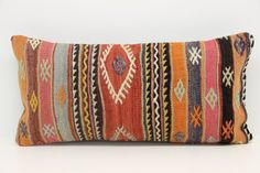Decorative Lumbar Kilim Pillow Cover 12 x 24 by kilimwarehouse