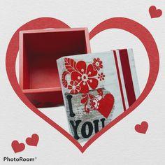 Pintada a mano y decorada con la tecnica de decoupage Decoupage, Playing Cards, Painted Boxes, Playing Card Games, Game Cards, Playing Card