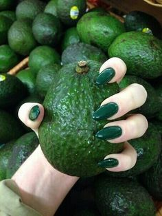 nails, green, and fruit kép