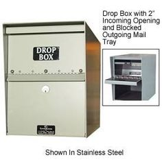 "Heavy Duty Drop Box Locker 1"" Incoming Slot And Envelope Slot Bronze by JAYCO INDUSTRIES. $550.00. DROP BOX LOCKERS Heavy Duty Drop Box with 1 Incoming Slot and Envelope Slot These drop boxes are great for bank deposits, parcels, packages and more. Drop box lockers are available big or small for a variety of applications. Ideal for businesses such as banks or utility companies that accept items after hours. Drop boxes are made with one-piece framing for extra strength. He..."