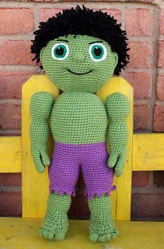 Ravelry: Green Buddy - Kid Hero pattern by Mary Smith Crochet For Boys, Love Crochet, Crochet Baby, Knit Crochet, Crochet Crafts, Crochet Dolls, Yarn Crafts, Crochet Projects, Amigurumi Doll