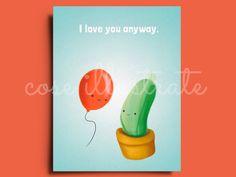 """Grazie per le parole gentili!  ★★★★★ """"Stile unico. Lo adoro, consigliatissimo!"""" http://etsy.me/2onOD84 #etsy #prodottidicarta #cartolina #postcard #cute #cartoon #illustration #illustrazione #disegno #sanvalentine #coseillustrate #igerstorino"""