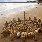 James Brunt Organizes Leaves and Rocks Into Elaborate Cairns and Mandalas