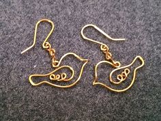 Couple bird earing - How to make wire jewelery 200 - YouTube