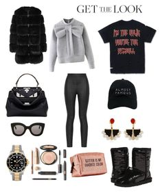 """Winter and cozy..."" by inesdeaguiar on Polyvore featuring UGG Australia, Armani Jeans, Givenchy, WithChic, Fendi, Nasaseasons, CÉLINE, Rolex, Lalique and Pinch Provisions"
