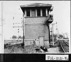 East Point. Switch tower at the Central of Georgia Railroad yard located north of Cleveland Avenue.  Photo courtesy of The Georgia Archives, Vanishing Georgia Collection.