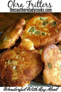 Delicious easy recipe for fritters with okra your family and friends will love. A great way to use okra. Side Dish Recipes, Vegetable Recipes, Vegetarian Recipes, Vegetarian Cooking, Veggie Food, Curry Recipes, Indian Food Recipes, Asian Recipes, Easy Recipes