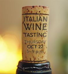 Event details written on wine cork. Cute idea for a wedding or other special occasion.