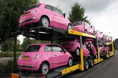 nice Pink Cars: Pink Fiat - Awesome Girly Cars & Girly Stuff!  Things I love