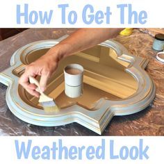 Easy Steps and How To Video to get the DIY weathered paint look with chalk paint - weathered wood look - weathered barn wood - DIY restoration hardware paint finish furniture videos DIY Weathered Paint Effect with Chalk Paint - Abbotts At Home Diy Furniture Videos, Furniture Painting Techniques, Furniture Stores, Chalk Paint Projects, Chalk Paint Furniture, Chalk Paint Diy, Chalk Paint Mirror, Chalk Paint Tutorial, Chalk Paint Chairs