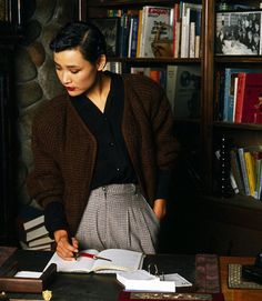 Joan Chen as Josie Packard in promotional photos for the first season of Twin Peaks, 1990.