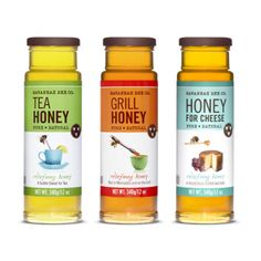 I love this not really for the packaging itself but the names they put on each product, grill honey, honey for cheese and tea honey. Great marketing!