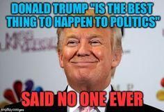 Faint praises ring in for Donald Trump
