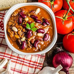 Chili is a winter staple because it's hearty, nutritious, and warm! It's is a great meal to make ahead and freeze for a quick, high-protein lunch or dinner.