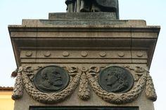 Monumento a Giordano Bruno: Pietro Ramo e Lucilio Vanini