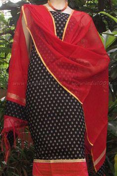 Designer Cotton unstiched suit fabric