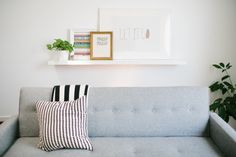 Ashley Rose's Houston Townhouse Tour // living room // Photography by Kimberly Chau