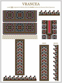 Semne Cusute: ie din MOLDOVA, Vrancea, Scafari Embroidery Motifs, Hama Beads, Traditional Outfits, Cross Stitching, Beading Patterns, Pixel Art, Cross Stitch Patterns, Folk Art, Projects To Try