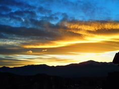 1/2/2014 sunset, Pikes Peak, by Amy Lilley