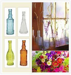 terrariums in colored glass?