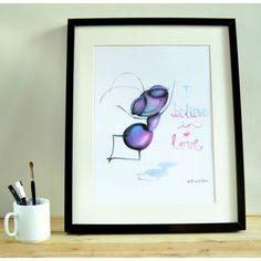 LÁMINA FRASE I BELIEVE Believe, Frame, Home Decor, Love, Point Of Sale, Kids Rooms, Presents, Dots, Illustrations