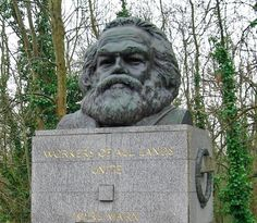 Highgate Cemetery London  Karl Marx' Grave at Highgate Cemetery