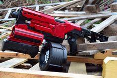Red Fury Custom Nerf Demolisher di Cave76Designs su Etsy